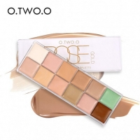 O.TWO.O ROSE GOLD, палетка консилеров для лица 12 цветов
