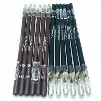 M.A.C, карандаши для глаз и бровей с точилкой чёрно-коричневые (12 штук)