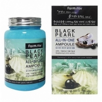 FARMSTAY ALL-IN-ONE BLACK PEARL AMPOULE (с экстрактом жемчуга), сыворотка для лица 250 мл