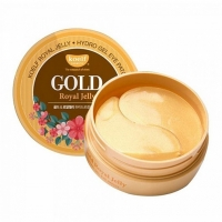 KOELF HYDRO GEL GOLD AND ROYAL JELLY EYE PATCH - 60 штук, гелевые патчи для глаз