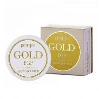 PETITFEE GOLD AND EGF EYE SPOT PATCH - 60 штук, патчи для век