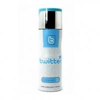 TWITTER FOLLOW ME, парфюмированный дезодорант для мужчин 200 мл (производство ОАЭ)