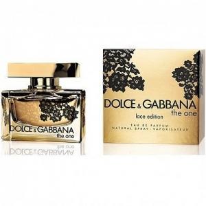 DOLCE & GABBANA THE ONE LACE EDITION, парфюмерная вода для женщин 75 мл