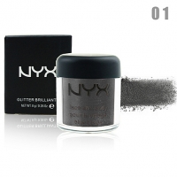 NYX GLITTER BRILLIANTS - №01, пигмент рассыпчатый для лица и тела 8 г