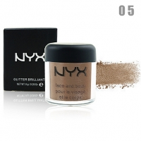 NYX GLITTER BRILLIANTS - №05, пигмент рассыпчатый для лица и тела 8 г