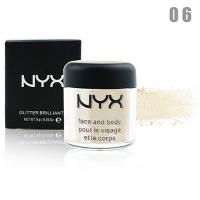 NYX GLITTER BRILLIANTS - №06, пигмент рассыпчатый для лица и тела 8 г