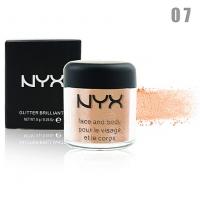 NYX GLITTER BRILLIANTS - №07, пигмент рассыпчатый для лица и тела 8 г