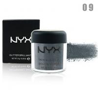 NYX GLITTER BRILLIANTS - №09, пигмент рассыпчатый для лица и тела 8 г