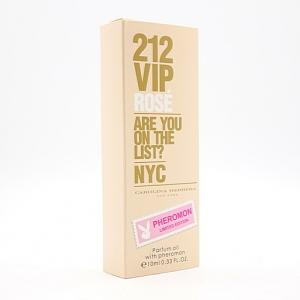 CAROLINA HERRERA 212 VIP ROSE, женские масляные духи с феромонами 10 мл
