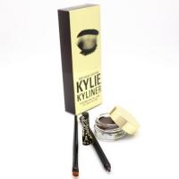 KYLIE KYLINER BIRTHDAY EDITION (BROWN-КОРИЧНЕВЫЙ), набор карандаш + гелевая подводка + кисточка 3 в 1