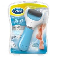 SCHOLL VELVET SMOOTH, электрическая роликовая пилка (голубая)