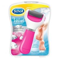 SCHOLL VELVET SMOOTH, электрическая роликовая пилка (розовая)