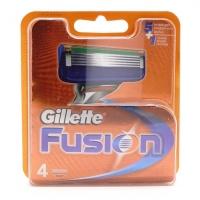 GILLETTE FUSION, 4 сменные кассеты для бритья