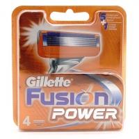 GILLETTE FUSION POWER, 4 сменные кассеты для бритья