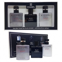 CHANEL 3*25 мл, парфюмерный набор для мужчин 3 в 1